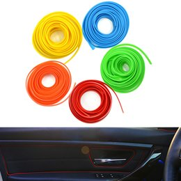 Wholesale Decoration Trim Line - 5M Universal Car Styling Flexible Interior Internal Decoration Moulding Trim Decorative Strips Line Stickers DIY 5 Colors CDE_00M