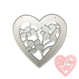 Wholesale Heart Die Cut - Flower Heart DIY Metal Cutting Dies Stencil Scrapbook Card Album Paper Embossing Craft