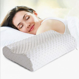 Wholesale Latex Cervical Pillow - Wholesale- Home Sleep Orthopedic Neck Support Fiber Slow Rebound Memory Foam Pillow Cervical Health Care Orthopedic Latex Foam Pillow