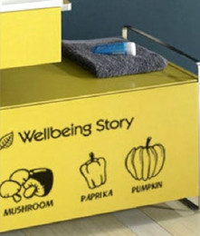 Wholesale Home Decoration Sticker Fruit - Vegitables fruits refrigerator kitchen wall stickers decoration decor home decal fashion cute waterproof family house glass cabinet