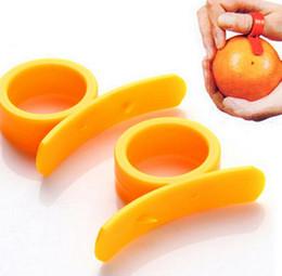 Wholesale Plastic Orange Peelers - Orange Peelers Zesters Device samll practical Orange Stripper opener Fruit & Vegetable cooking Tools