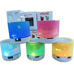 Wholesale Audio Card For Pc - Wireless Speaker Bluetooth Mini Speakers A9 Led Colored Flash Speaker FM Radio TF Card USB For iPhone Mobile Phone PC S8 iPhone 8