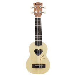 """Wholesale Solid Spruce Rosewood - Wholesale- High Quality 17"""" Mini Ukulele 4 Strings Ukelele Spruce Sapele Top Rosewood Fretboard Stringed Instrument with Gig Bag"""