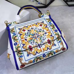 Pulseira de couro genuíno on-line-Saco de impressão de couro genuíno oblíqua cross bagimported genuíno do couro da palma padrão de fábrica, preço elevado saco cruz oblíqua