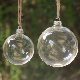 Wholesale Wholesale Clear Ornament Ball - 40Pcs Christmas Tree Glass Balls Ornament Christmas Decoration 80mm clear balls Xmas party supplies hanging Baubles Balls