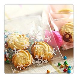 Bolsa de regalo de plástico de galletas online-100 UNIDS Clear Christmas Bake Cookie Biscuit Candy Gift Bag Bolsas de Embalaje de Plástico para Bodas y Fiestas Fiestas Suministros Envío Gratis