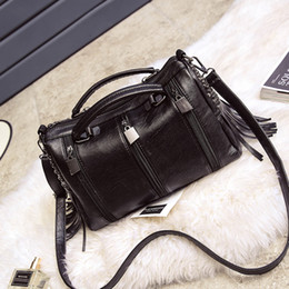 Wholesale Korea Party Fashion - Female bag 2016 new wild Messenger Boston pillow bag Japan and South Korea shoulder bag fashion trendy handbag