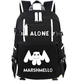 Wholesale Cool Canvas Backpacks - Marshmello backpack Alone daypack Fashion cool star schoolbag Music rucksack Sport school bag Outdoor day pack