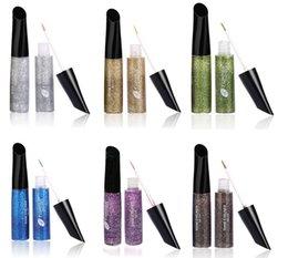 Wholesale Multi Colored Eyeshadow - Multi - colored gemstone powder bright eyeliner liquid colored eyeliner Shimmer Eyeshadow Glitter Eyeliner - Free Shipping + Free Gift
