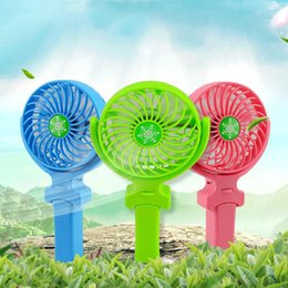 Wholesale Mini Cool Box - NEW Handy Usb Fan Foldable Handle Mini Charging Electric Fans Snowflake Handheld Portable For Home Office Gifts RETAIL BOX DHL