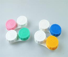 Doces da moda Lentes de contato case kit mate double lens caixa simples A056 cheap candy contact lenses de Fornecedores de lentes de contato doces