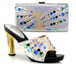 Wholesale Elegent Shoes - free shipping fashion shoes 2017 elegent italy lady shoes with matching bags for wedding or party TH16-38 euro size37-44