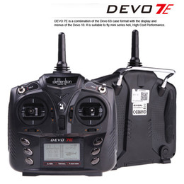 Wholesale Helicopter 7ch Radio - Walkera DEVO 7E 2.4G 7CH DSSS Radio Control Transmitter for RC Helicopter Airplane Model 2 Mode 1 F18519