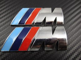 Wholesale Changing Logos - Wholesale-20pcs lot ABS M POWER CAR 3M STICKER BADGE Emblem M Logo POWER SPORT HOOD BOOT Free shipping