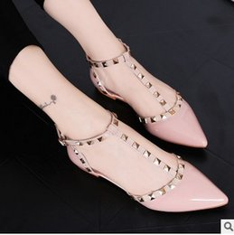 Wholesale Lowest Price Party Shoes - wholesaler free shipping factory price hot seller fashion high heel pointed toe patent leather chunky heel women shoes122