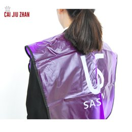 Wholesale Wholesale Hair Styling Capes - Hair Salon Adult Cutting Cape Transparent Waterproof Collapsible Adult Hairdressing aprons for Hair Care & Styling Tools