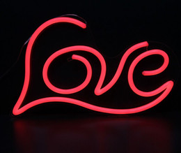 Wholesale Led Love Sign - Large 19''x12'' Illuminated LOVE Letters Words Handmade Custom LED Neon Open Neon Signs Bar Sign 3D Wall Decorations Neon Light Up Letters