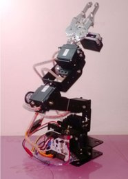 Wholesale Arm Robots - 6 DOF Mechanical Arm six aixs robot arm  with square base  claw  3D rotation Mechanical Hand & Robot Teaching Platform