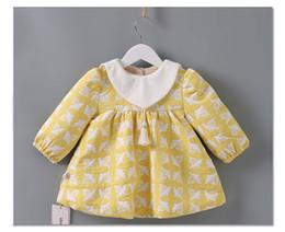 Wholesale Thick Tutu - Baby Tassel Princess Dress New Winter Flower Long Sleeve Warm Toddler Dresses Sweet Plus Thick Velvet Infant Party Dress C2361