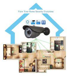 Wholesale High Resolution Ir Lens - 1080P Waterproof Bullet Surveillance CCTV Camera 2.0 Megapixel High Resolution IR Cut 120ft Day Night Vision 3.6MM Wide Angle Lens 42 IR Led