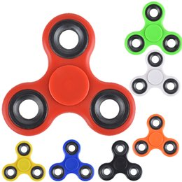 Wholesale Stockings For Kids - In stock Fidget Spinner Hand Spinner Tri-Spinner Fidget toy Acrylic Plastic HandSpinner EDC Toy For Decompression Anxiety Toys oth438