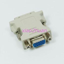 Wholesale 15 Pin Vga Cable Female - Wholesale- J34 3pcs lot VGA 15 Pin Female to DVI-D Male Adapter Converter LCD