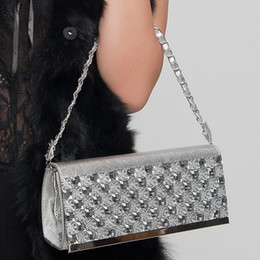 Wholesale Phones Cover Decoration - Wholesale-2016 new fashion woman evening bag rhinestone decoration women messenger bag Clutch js222