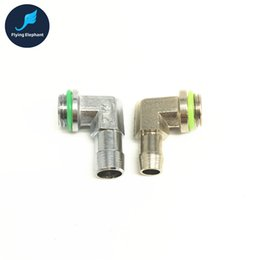 Wholesale Copper Elbow - Wholesale- G1 4'' Computer Water Cooling 90 Degree 6x9mm 8x10mm Pagoda With Rotary Elbow For ID 9-10mm Tube