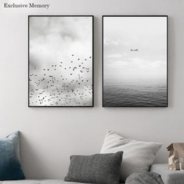 Wholesale Bird Picture Frames - 2 pictures of the sky and bird home decoration works sticker wall layout room wall art wall art frame painting