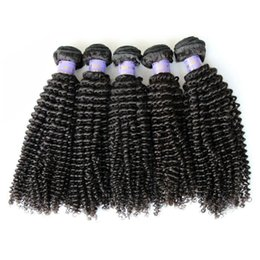 Wholesale Remi Curly - 8-32inch Queen 8A Malaysian Virgin Hair Wefts Unprocessed Remi Hair Weaves Pure Human Hair Weave Kinky Curly Dyeable Free Shipping