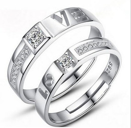 Wholesale Cheap Valentines Sets - 2017 Best Sellers couple Rings free size Multi Styles alloy Charmsring Mixed order cheap Valentine Day gift jewelry for lovers D042