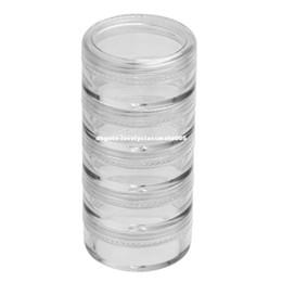 Wholesale Rhinestones Storage Box - 25pcs Powder Paillette Rhinestone Storage Plastic Box Case Nail Art Cosmetic Empty Jar Pot Makeup Face Cream Container Bottle