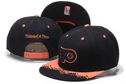Wholesale Hockey Team Hats - 2017 new Wholesale Philadelphia Flyers Snapback Hats Yellow Baseball Caps Hip Hop Mens Ice Hockey Sport Team Caps Adjustable Free Shipping