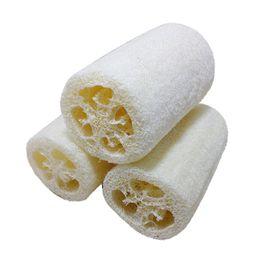 Esfregadores de banho de bucha on-line-Atacado-2017 Natural Loofah Banho Body Shower Esponja Scrubber Pad Exfoliante escova de limpeza do corpo pad venda quente