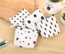 Wholesale Cute Key Pouch - European Style Canvas Coin Bags Hot Sale Kids Change Purse Men Women Pouch Cute Cartoon Key Holder DHL Free Shipping
