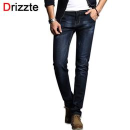 Wholesale Men Blue Jeans Size 36 - Wholesale- Drizzte Fashion Men's Jeans Comfortable Stretch Blue Denim Men Slim Fit Jeans Size 30 32 34 35 36 38 Pants Jean