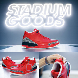 Wholesale M Boxes - 2017 Air retro 3 x DJ Khaled Grateful Mens basketball shoes fire red top quality retro 3s Mens Sneakers eur 41-47 with box