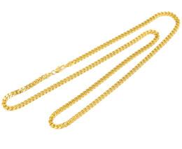Wholesale Cuban Link Wholesale - Hip hop Cuban link chain 76.2cm 60.96cm Mens Iced out 14K Gold Finish Rapper`s Miami Cuban Link Chain Necklace