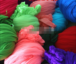 Wholesale White Silk Material - Wholesale- New! 20 Colors Mesh Flowers,Materials wholesale SOLID COLOR Nylon Silk stockings flower For DIY Flower,50pcs lot Free Shipping