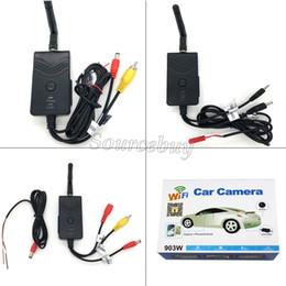 armaturenbrettsystem Rabatt 903W Wasserdicht Echtzeit Video Wireless WIFI Transmitter für FPV Luftaufnahmen Auto Rückfahrkamera AV / DC / Luftschnittstelle iphone Android