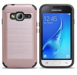 Wholesale Dark Grey Brushed - For Samsung Grand Prime J510 J710 J1 ACE J2 Prime J3 2017 Hybrid Brushed Metal Case
