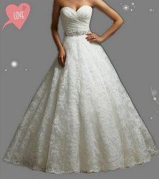 Wholesale Wholesale Elegant Corsets - Embroidery Strapless strapless corset White dress with Crystal Beads Wedding Dresses 2017 Bridal Dress plus maxi elegant party s