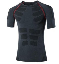 Wholesale Elastic Body Shirt - Men's tight body PRO sports fitness training training elastic compression quick-drying short-sleeved shirt T-shirt clothes