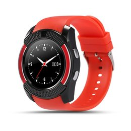 Wholesale Wholesale Chips Cell Phones - V8 Circular Smart Watch Hot Sale U8 DZ09 A1 GT08 Bluetooth Watches Android 0.3M Camera MTK Chip Smartwatch For Cell phone Micro Sim TF Card