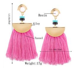 Wholesale Handmade Earrings Designs - Drop Price Drop Earring Design Fashion 18K Gold Plated Women Tassel Earring Ethnic Long Handmade Earrings QD