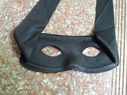 Wholesale Men Party Themes - Cool Bandit Zorro Masked Man Eye Mask for Theme Party Costume Masquerade Halloween Black One Size Fits Most
