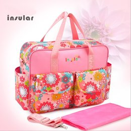 Wholesale Mummy Package - Wholesale- Waterproof Antibacterial Mummy Bag Large Capacity Baby Bags for Mom 10 Colors Floral Mother and Child Travel Package Luiertas