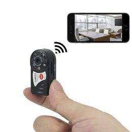 Wholesale Ip Camera Dhl - Free DHL Mini DV P2P WiFi IP Camera Wireless DV DVR Hidden Spy Camera Video Recorder Security For IOS Android Phone PC Remote View Q7