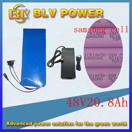 Wholesale Scooter Electric Charger - Ebike 48v 20Ah battery for electric bike scooter bicycle NO shell for inside sam-sung 26HM lithium battery PVC case BMS 800w and 2a Charger