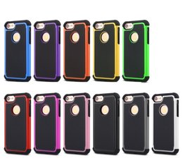 Wholesale Iphone 5c Ballistic - Football 3 in 1 Rugged ballistic Impact Combo PC+silicone Case cover For iphone 4 5 5S SE 5C IPHONE 6 6S 7 6 PLUS 7 PLUS TOUCH 4 5 6 100PC